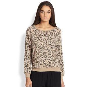 Joie Annora Leopard Print Raglan Pullover